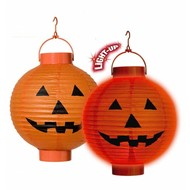 Halloweenaccessoires lampion pompoen 20cm
