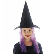 Halloweenaccessoires: Heksenhoedjes kind met haar