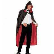 Halloweenaccessoires luxe zwart/rode 2-zijdige cape