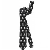 Halloweenartikel satijnen stropdas met schedels