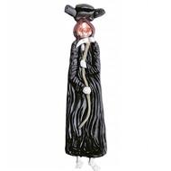 Halloweenartikel latex stropdas skelet met lichtgevende ogen