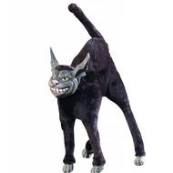 Halloweenaccessoires: Buigbare zwarte kat 28 cm