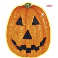 Halloweenaccessoires: Glitter pompoen 25 cm met flikkerend licht