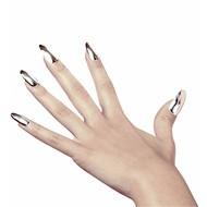 Halloweenaccessoires zwarte nagels lang per 15 verpakt