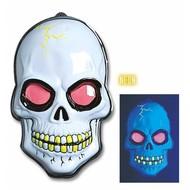 Halloweenaccessoires skelet fluoriserend56x38cm