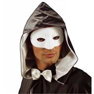 Halloweenaccessoires oogmasker maskerade wit