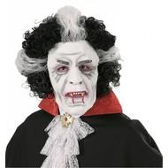 Halloweenmasker: Vampiers masker met pruik