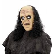 Halloweenmasker: Doodgravers masker met pruik