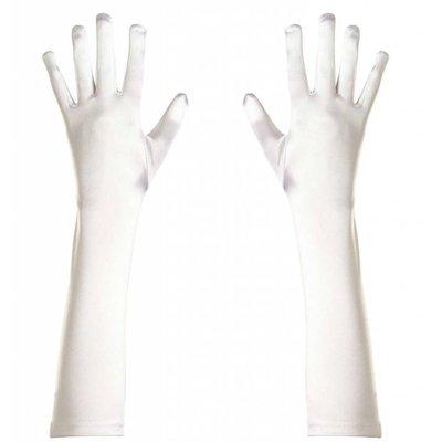 Halloweenaccessoires handschoenen spandex wit