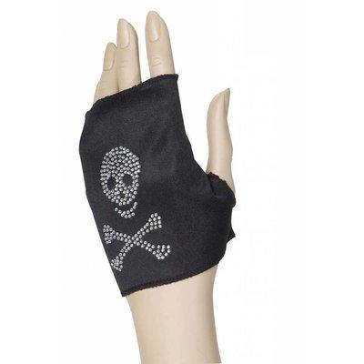 Handschoen met doodskop voor Halloween