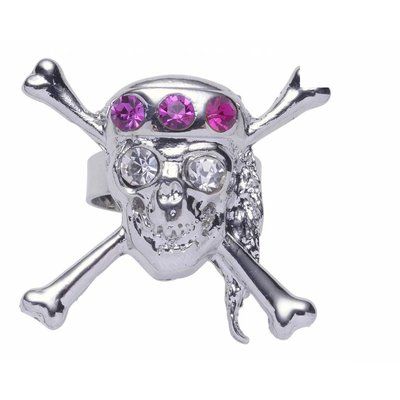 Ring met een doodskop voor Halloween