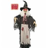 Halloweenartikelen heks ware grootte met lichtgevende ogen