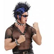 Carnavalsaccessoires: Spijker halsband en spijker armband