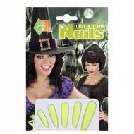 Halloweenaccessoires heksennagels lichtgevend donker