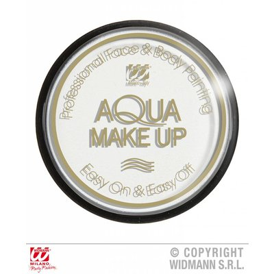 Halloweenaccessoires aqua make-up 15g wit