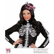 Halloweenartikel mini hoge hoed schedel met strik