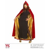 Halloweenkleding: Cape bordeaux-rood dubbelzijdig