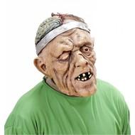 Halloweenmasker: Hersenoperatie met pruik