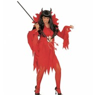 Halloweenkleding: Duivelin
