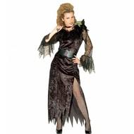 Halloweenkleding Vileine zwarte weduwe