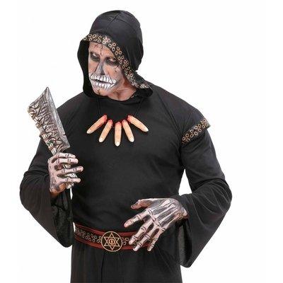 Halsketting met afgesneden vingers voor Halloween