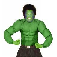 Halloweenkostuum spierenshirt groen kind