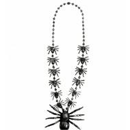 Carnavalsaccessoires: Halsketting met spinnen