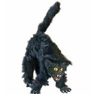 Halloweenaccessoires: Harige buigbare kat 36 cm