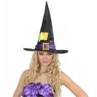 Halloweenaccessoires: Heksenhoed met lapjes