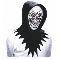 Halloweenartikel kap met horror gezicht