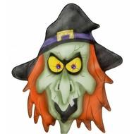 Halloweenaccessoires stoffen wanddecoatie heks
