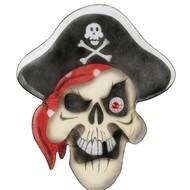 Halloweenaccessoires stoffen wanddecoratie piratenschedel