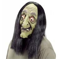 Halloweenmasker: Enge heksen maskers met pruik