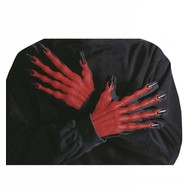 Halloweenaccessoires: Duivel handschoenen