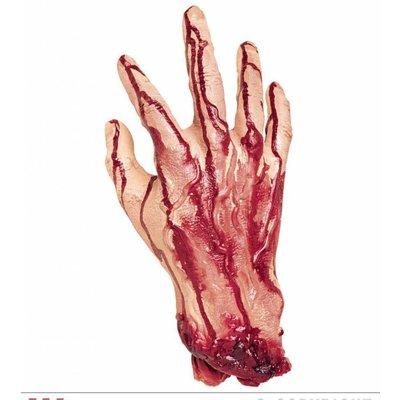 Nep afgehakte hand voor Halloween