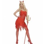 Halloweenkleding sexy duiveltje