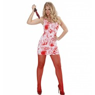 Horror-outfit: Bloody Mary jurk met bloed