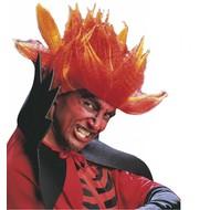 Halloweenaccessoires: Pruik Diablo Flame