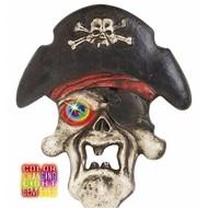 Halloweenaccessoires piratenschedel met meerkleurig licht