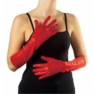 Halloweenaccessoires pailletten handschoenen goud/zilver