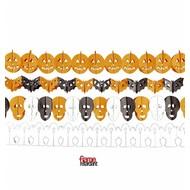 Halloweenaccessoires guirlande 3mtr papier
