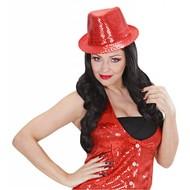 Halloweenaccessoires set oogwimpers rood met 10 glitternagels