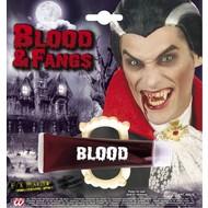 Halloweenaccessoires tube bloed met gebit