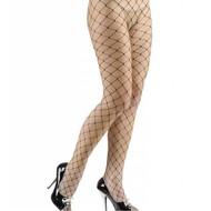 Halloweenaccessoires visnet panty diamandzwart