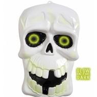Halloweenaccessoires wanddecoratie schedel lichtend in donker