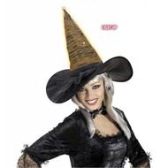 Halloweenaccessoires heksenhoed fiberoptic