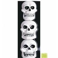 Halloweenaccessoires schedeldecoratie 3dvertikaal 20x50cm