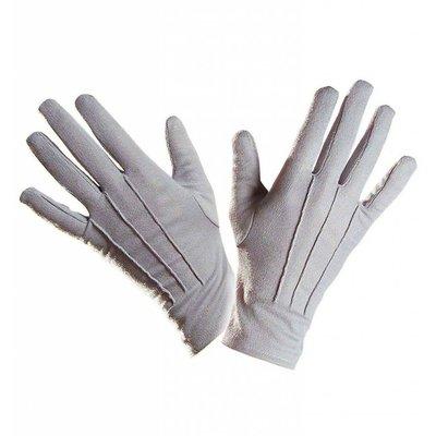 Halloweenaccessoires handschoenen grijs