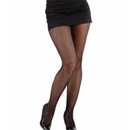 Halloweenaccessoires visnetpanty zwart