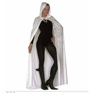 Halloweenkleding: Cape wit (150 cm)